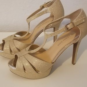GIANNI BINI New Gold Shoes Size 9